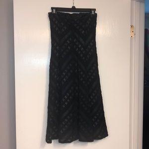 Ann Taylor Dresses - Black strapless, silk lined dress .